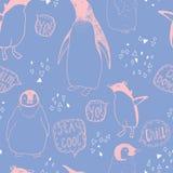 Het naadloze patroon van de pinguïnenlevensstijl Royalty-vrije Stock Fotografie