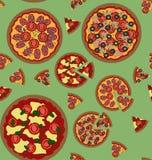 Het naadloze patroon van de pizza Royalty-vrije Stock Foto