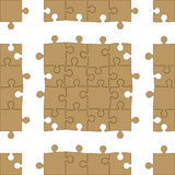 Het Naadloze Patroon van de puzzel Royalty-vrije Stock Afbeeldingen