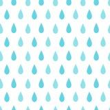 Het naadloze patroon van de regen vector illustratie