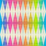 Het naadloze patroon van de regenboogruit Stock Afbeeldingen