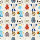 Het naadloze patroon van de Robot Royalty-vrije Stock Foto's