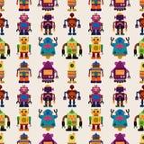 Het naadloze patroon van de Robot Stock Foto
