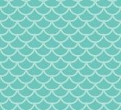 Het Naadloze Patroon van de Schalen van vissen De vissen villen eindeloze achtergrond, meerminstaart die textuur herhalen Vector  royalty-vrije illustratie