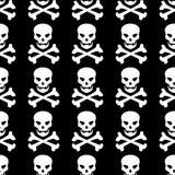 Het naadloze patroon van de schedel Royalty-vrije Stock Fotografie