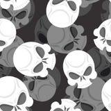 Het naadloze patroon van de schedel De hoofd 3d achtergrond van Sklet Dood van ornam Stock Afbeeldingen