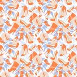Het naadloze patroon van de schoenen op de achtergrond van gevoelig nam toe Stock Afbeeldingen