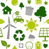 Het Naadloze Patroon van de schone Energie Stock Afbeelding