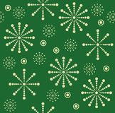 Het naadloze patroon van de sneeuwvlok stock illustratie