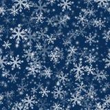 Het naadloze Patroon van de Sneeuwvlok Royalty-vrije Stock Afbeeldingen