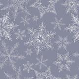 Het Naadloze Patroon van de sneeuwvlok Stock Afbeeldingen