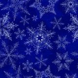 Het Naadloze Patroon van de sneeuwvlok Stock Foto's