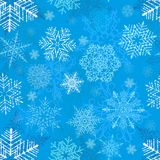 Het Naadloze Patroon van de sneeuwvlok Stock Foto