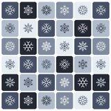 Het naadloze patroon van de sneeuwvlok Stock Afbeelding
