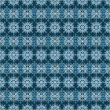 Het naadloze patroon van de sneeuwvlok Royalty-vrije Stock Foto