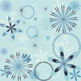 Het naadloze patroon van de sneeuwvlok Royalty-vrije Stock Fotografie