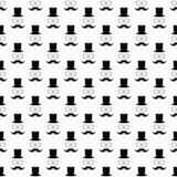 Het naadloze patroon van de snor Stock Afbeelding