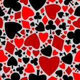 Het naadloze patroon van de speelkaart Royalty-vrije Stock Foto's