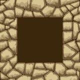 Het naadloze patroon van de steen Stock Afbeelding