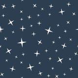 Het naadloze patroon van de sterrige nachthemel Stock Foto's