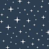 Het naadloze patroon van de sterrige nachthemel Royalty-vrije Stock Fotografie