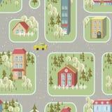 Het naadloze patroon van de straatillustratie Stock Foto's