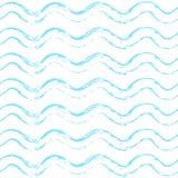 Het naadloze Patroon van de Textuurgolf stock illustratie