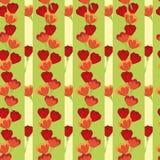 Het naadloze patroon van de tulp Stock Fotografie