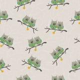 Het naadloze patroon van de uil Royalty-vrije Stock Afbeelding