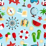 Het naadloze patroon van de vakantievakantie Royalty-vrije Stock Afbeeldingen