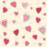 Het naadloze patroon van de valentijnskaart Stock Afbeelding