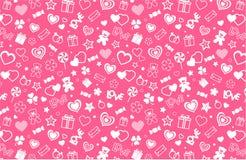 Het naadloze patroon van de valentijnskaart royalty-vrije illustratie