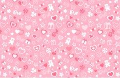 Het naadloze patroon van de valentijnskaart vector illustratie