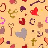 Het naadloze patroon van de valentijnskaartendag Royalty-vrije Stock Fotografie