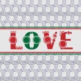 Het naadloze patroon van de valentijnskaartendag Royalty-vrije Stock Afbeeldingen
