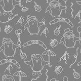 Het naadloze patroon van de verjaardagspartij in vector royalty-vrije illustratie