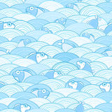 Het naadloze Patroon van de Vissen van het Water Stock Afbeeldingen