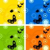 Het naadloze patroon van de vlinder Stock Fotografie