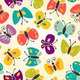 Het naadloze patroon van de vlinder Stock Afbeelding