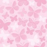 Het naadloze patroon van de vlinder Royalty-vrije Stock Foto's