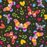 Het naadloze patroon van de vlinder Royalty-vrije Stock Afbeeldingen