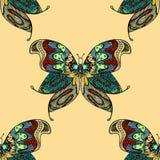 Het naadloze patroon van de vlinder Royalty-vrije Stock Foto