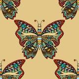 Het naadloze patroon van de vlinder Stock Foto