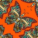 Het naadloze patroon van de vlinder Royalty-vrije Stock Fotografie