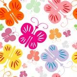 Het naadloze patroon van de vlinder Stock Foto's