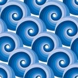 Het naadloze patroon van de watergolf Royalty-vrije Stock Afbeelding