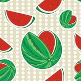 Het naadloze patroon van de watermeloen Stock Fotografie