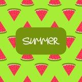 Het naadloze patroon van de watermeloen Stock Foto's