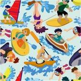 Het naadloze patroon van de watersport Royalty-vrije Stock Fotografie