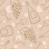 Het naadloze patroon van de wijn - 2 stock illustratie